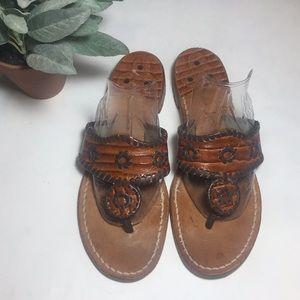 Jack Rogers Flat Sandals Size 10M READ